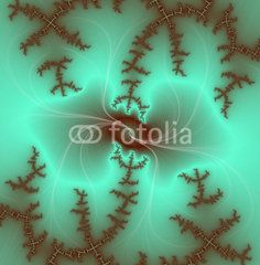 Fractal on green background
