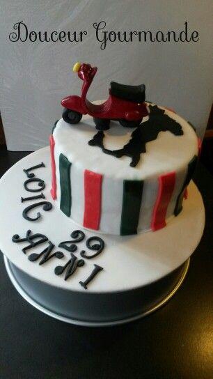 Gâteau Vespa