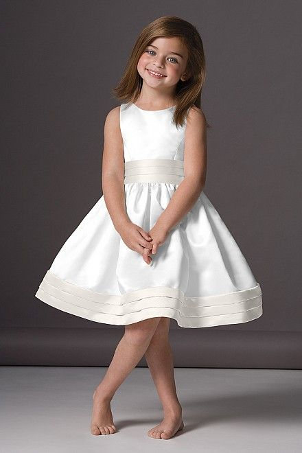 Watters.com 46248: Ideas, Flower Girls Dresses, Dresses Style, Bridesmaid Dresses, Knee Length, Wedding, Satin Flower, Flower Girl Dresses, Kid