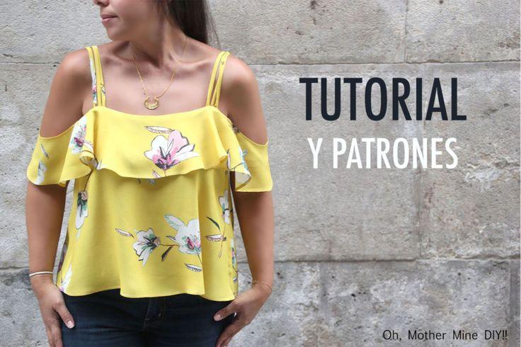 DIY Costura Blusa sin hombros (patrones gratis) | | Oh, Mother Mine DIY!!