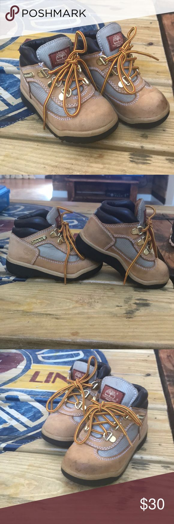 Toddler 8 Timberland boots. Pretty nice shape.  Few spots but no damage.  Treads excellent. Timberland Shoes Boots