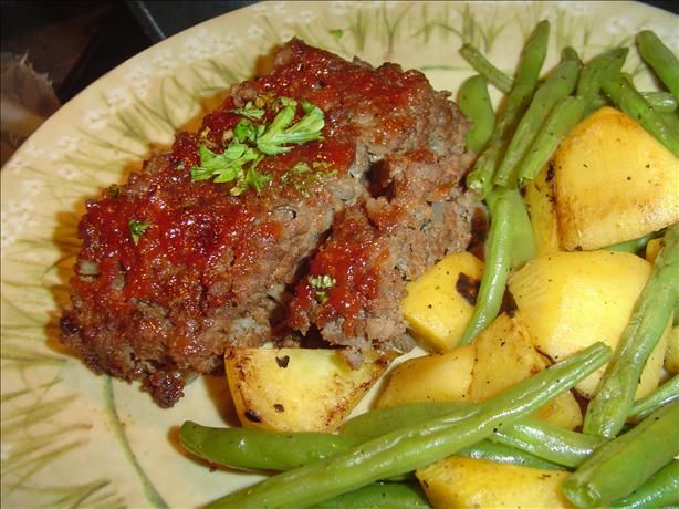 Meatloaf with Brown-Sugar Ketchup Glaze | yumm food | Pinterest