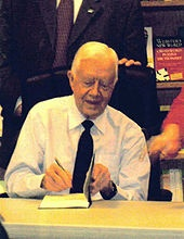 President Jimmy Carter in Houston in the '90s. I have a photo of the two of us.