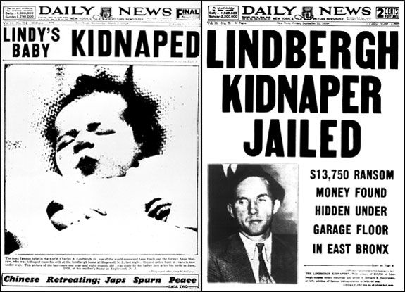 1932 Charles Lindbergh turns over $50,000 as ransom for kidnapped son