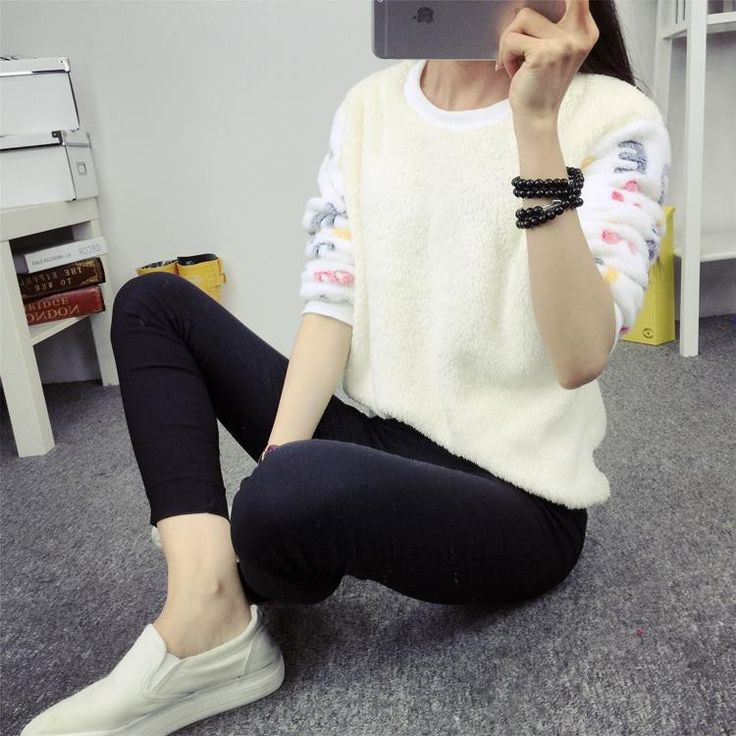 New 2015 Women Hoody Spring Autumn Long Sleeve Casual Sweatshirts Women Cute Print Hoodies Moleton Feminine Oversize EPHO80045