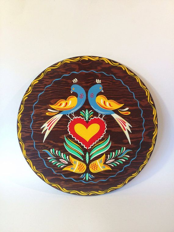 Vintage Pennsylvania Dutch Hex Wall Hanging / Hand by MelbaMoon, $22.00