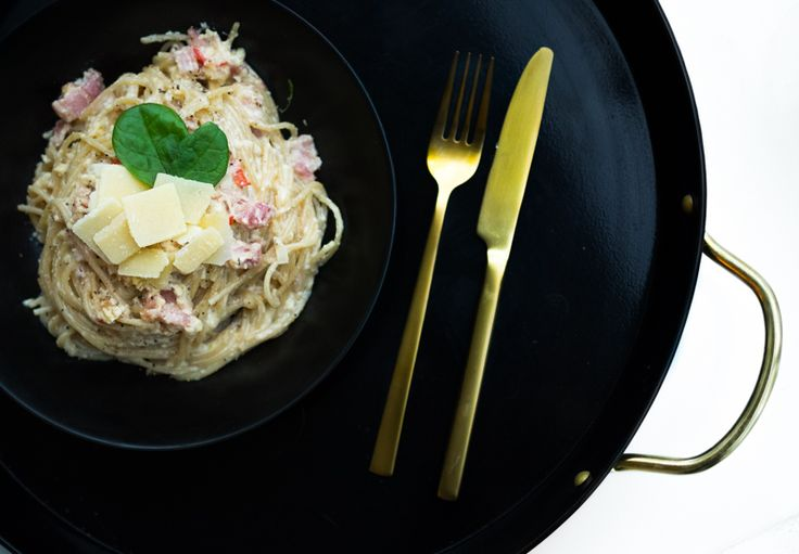 Pasta carbonara // Uino