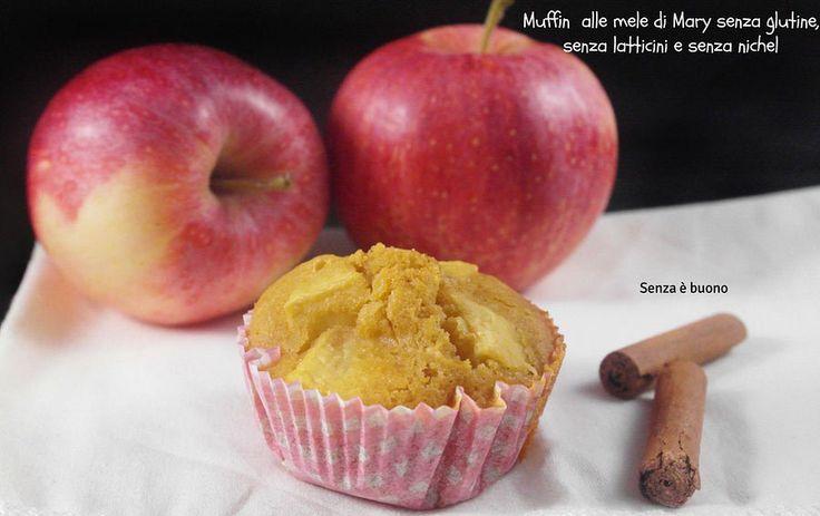 Muffin alle mele senza glutine e senza latticini  di Mary http://www.senzaebuono.it/muffin-alle-mele-senza-glutine-senza-latticini-di-mary/
