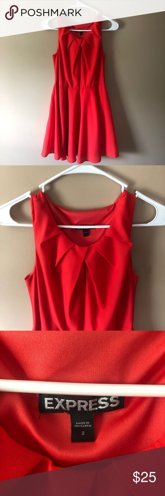 Flirty Red Cocktail Dress This flirty red cocktail dress from Express was a favo…
