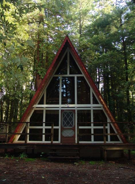 A-Frame homes always remind me of weekend trips to the Hualapai Mountains when I was a kid.