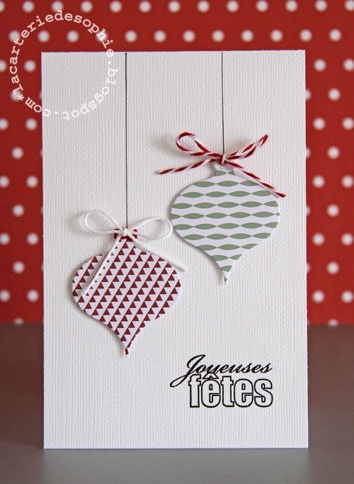 carte de noel faite maison 57 vie www.cartefaitmain.eu #carte #diy                                                                                                                                                                                 Plus