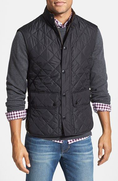 Barbour+'Lowerdale'+Trim+Fit+Quilted+Vest+available+at+#Nordstrom