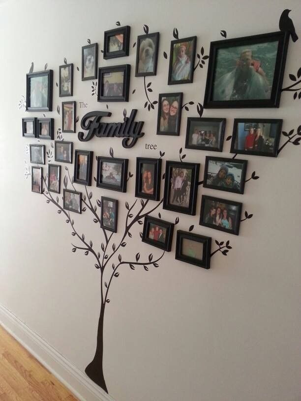 painting family tree wall decor - wall art family art ideas bedroom decoration old family photos                                                                                                                                                                                 More
