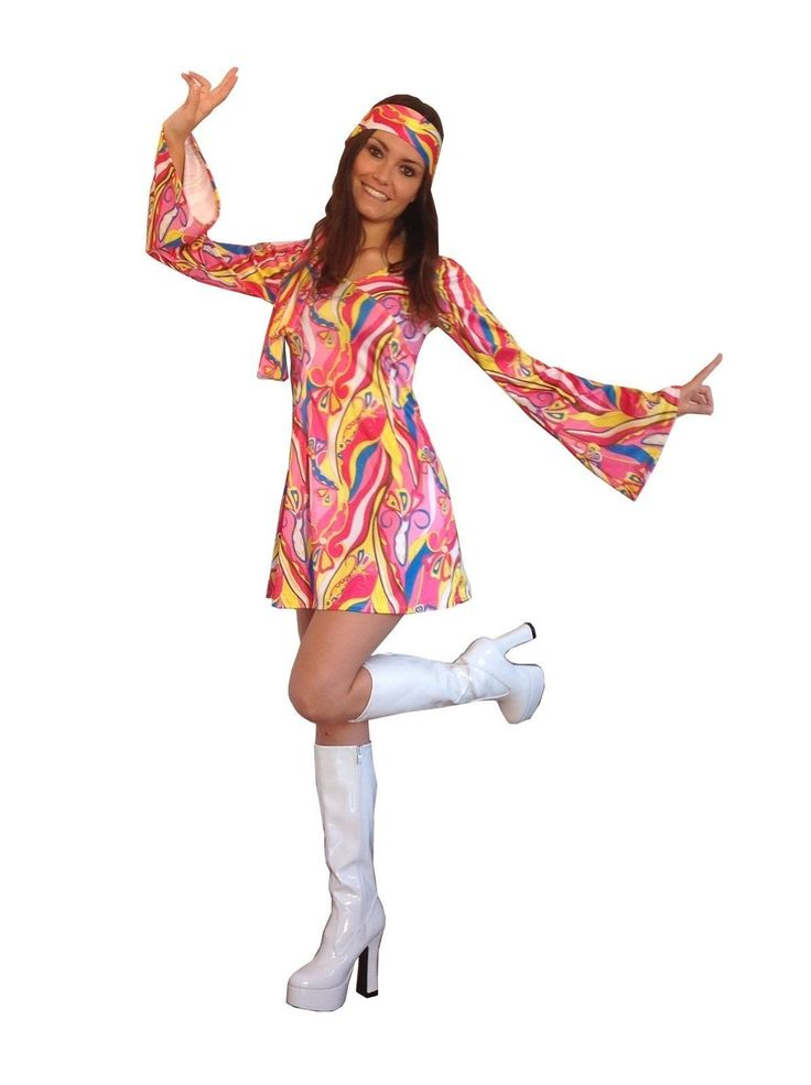 NEW!!! ON SALE - £14.99 - 60s 70s Fancy Dress Hippie Retro Woodstock Flower Power Costume Buy here: http://sowestfancydress.com/products/ladies-fancy-dress/60s-70s-fancy-dress-costume-flower-power-hippy-hippie-retro-gogo/