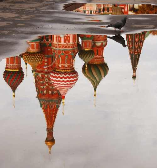 Moscow #rain #puddle #travel #Russia #dtfs