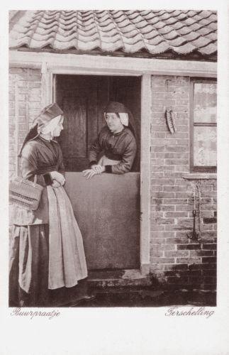 Ansichtkaart van 'Buurpraatje Terschelling' (fotonummer AK332).