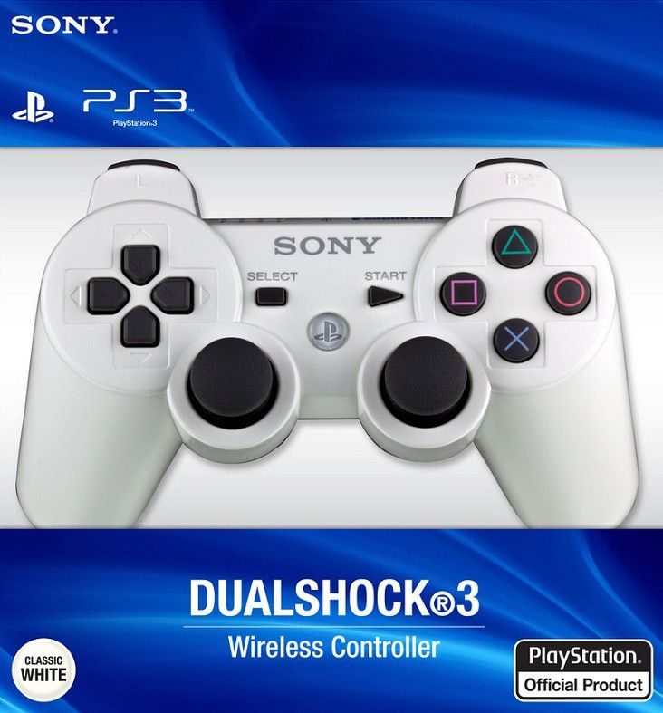 Dualshock 3 Controller - Classic White