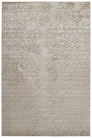 """"""" Helen Amy Murray Star Silk is hand knotted from silk, and the motif is then carved into the surface by hand. This rug is entirely handmade, from the spinning of the yarns to the weaving on the loom...."""