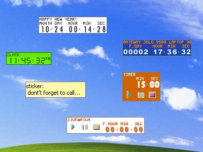 TimeLeft - Free clock, reminder, countdown, stopwatch, timer, sticker, auction watch and time synchronization utility using Winamp skins to ...