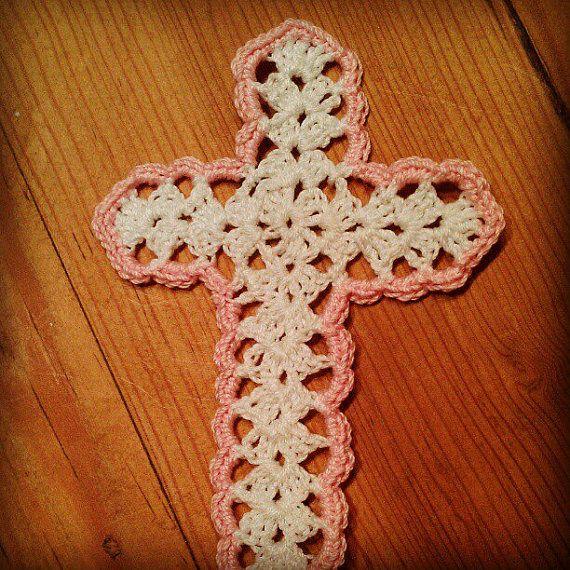 Handmade Crochet Cross Bookmark/ Ornament by SweetKeeps on ...