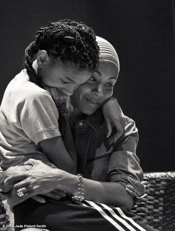 Jada Pinkett Smith and Willow Smith. The emotion here is precious!