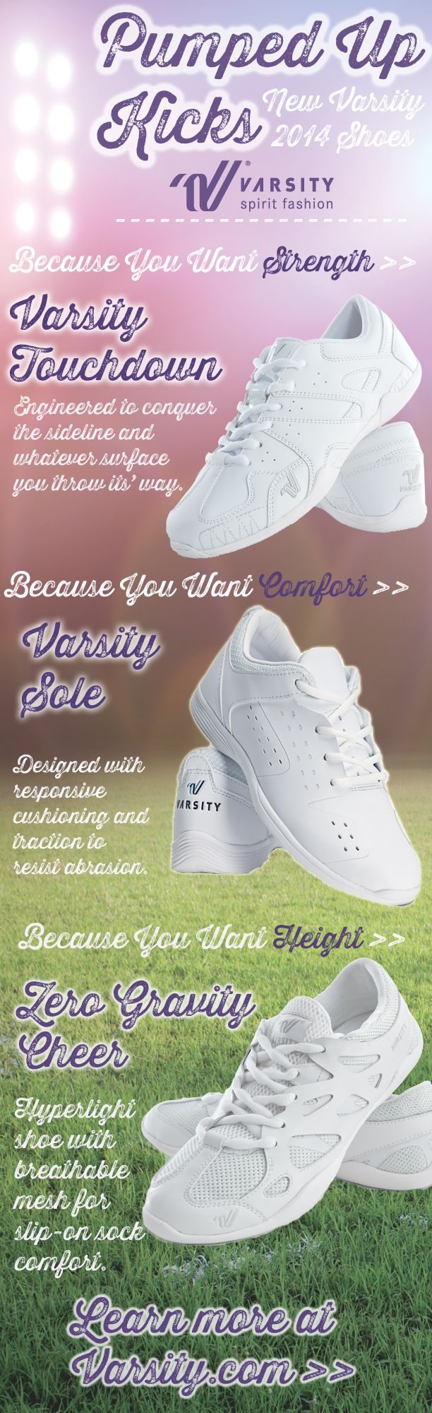 Varsity Cheerleading Shoes New styles of cheer shoes