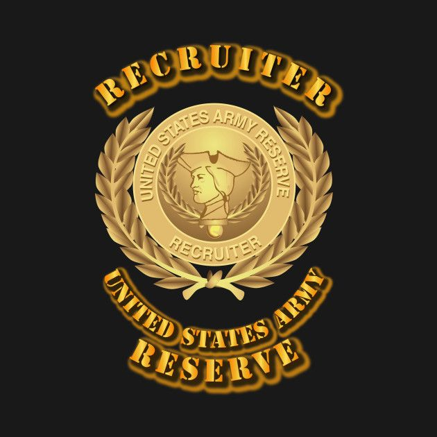 Awesome 'Army+Reserve+Recruiter' design on TeePublic!