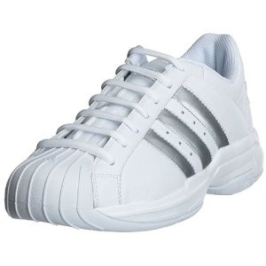 adidas Men's Superstar 2G Basketball Shoe, White/Silver, 8.5 M (Apparel)