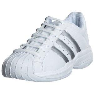 adidas Men\u0027s Superstar Basketball Shoe, White/Silver, M (Apparel)