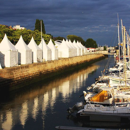 Lorient Evening, Lorient, Brittany, France. #tents #harbour #lorient #brittany #france