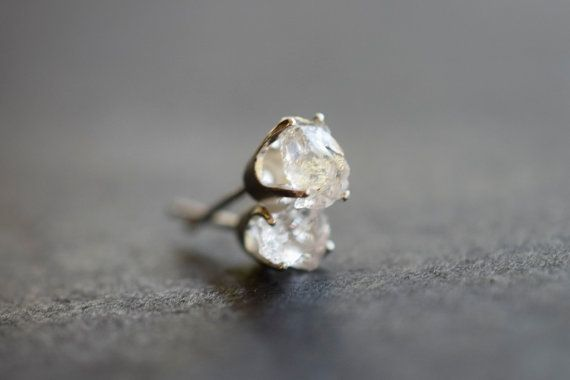 MADE TO ORDER Raw Diamond Earrings Rough Diamond Earring by Avello