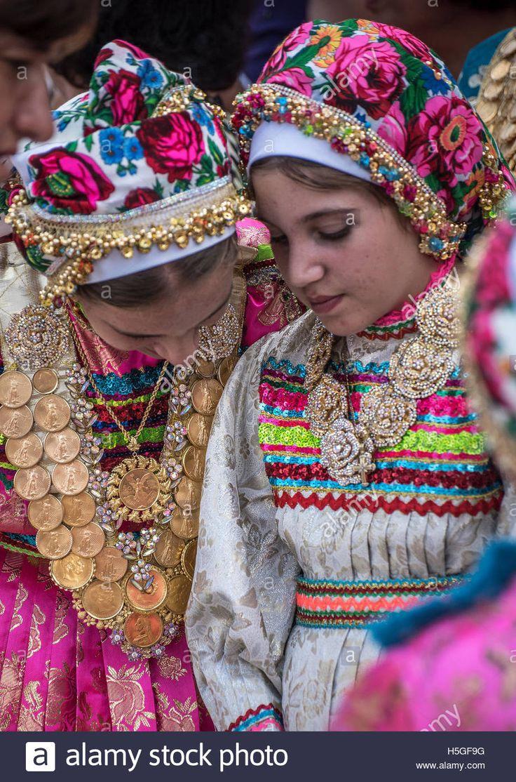 Celebration of Panagia day at Olymnpos village Karpathos Island Greece Contributor: Images & Stories / Alamy Stock Photo