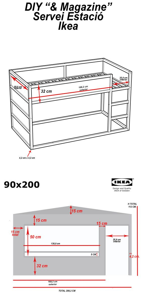 Ikea Hochbett Tromsö Wackelt ~ DIY Wood house with Kura beds  IKEA Hackers  IKEA Hackers