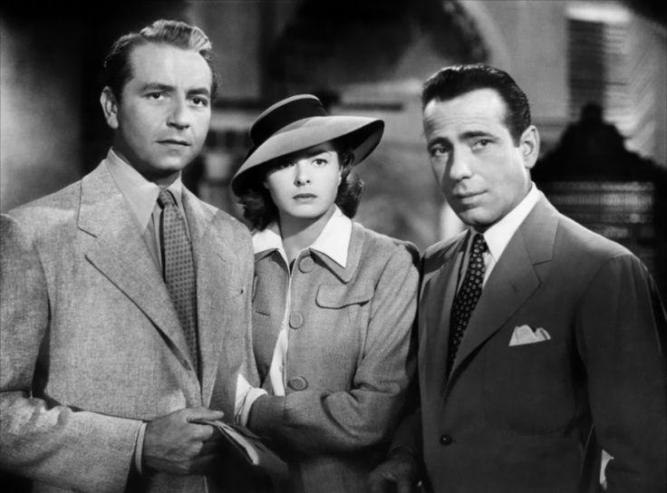 Paul Henreid, Ingrid Bergman, and Humphrey Bogart in Casablanca