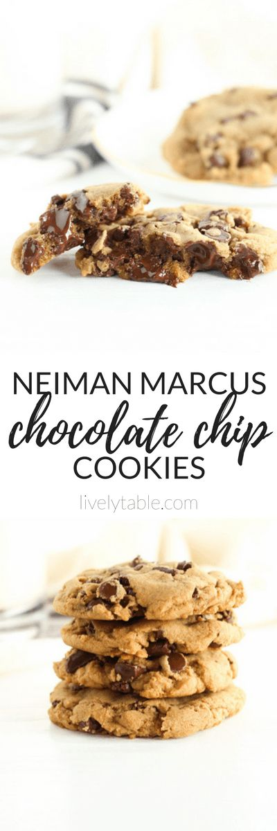 Buttery, rich and chocolatey Neiman Marcus Chocolate Chip Cookies from the Neiman Marcus Cooks cookbook.  via livelytable.com