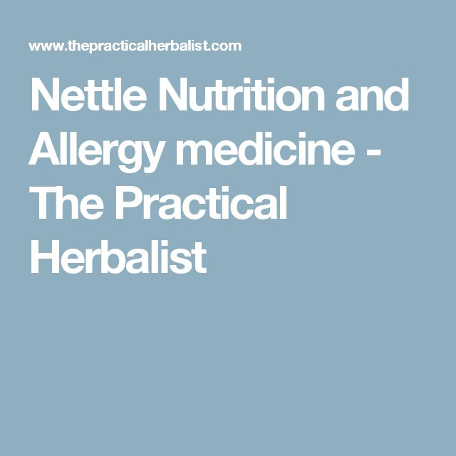 Nettle Nutrition and Allergy medicine - The Practical Herbalist
