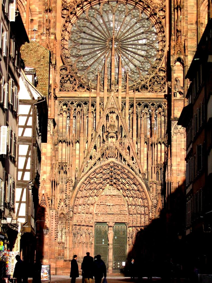 Magnificent Strasbourg cathedral, Alsace, France