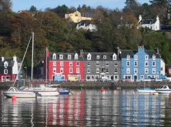 Tobermory on the Isle of Mull in Scotland.  Gorgeous seaside village filled with quaint shops and fab places to eat.