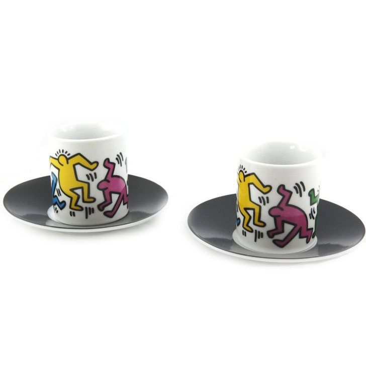 Pin for Later: There's a Keith Haring Version of Just About Everything For Your Home  Box of 2 Multicoloured Keith Haring Coffee Cups (£13 plus delivery)