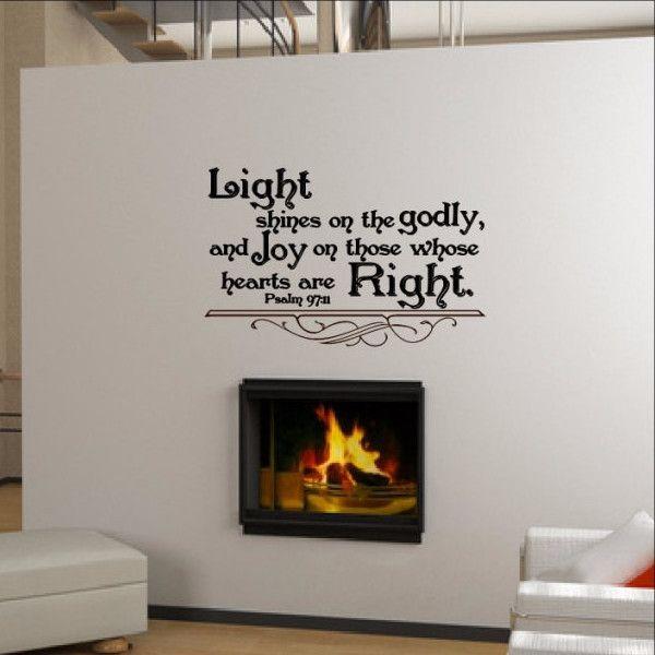 Bible Verse Wall Decals Psalm 97:11 22297