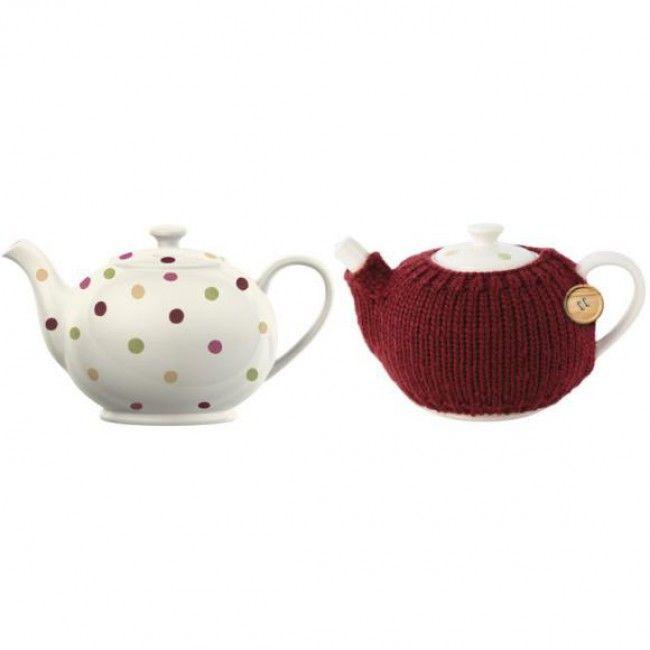 Konvice na čaj s puntíky