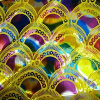 Dos lados elástico bronceado tela de escamas de pescado de escamas de dragón del arco iris colorido fcosplay ropa diy tela de punto trajes de la etapa