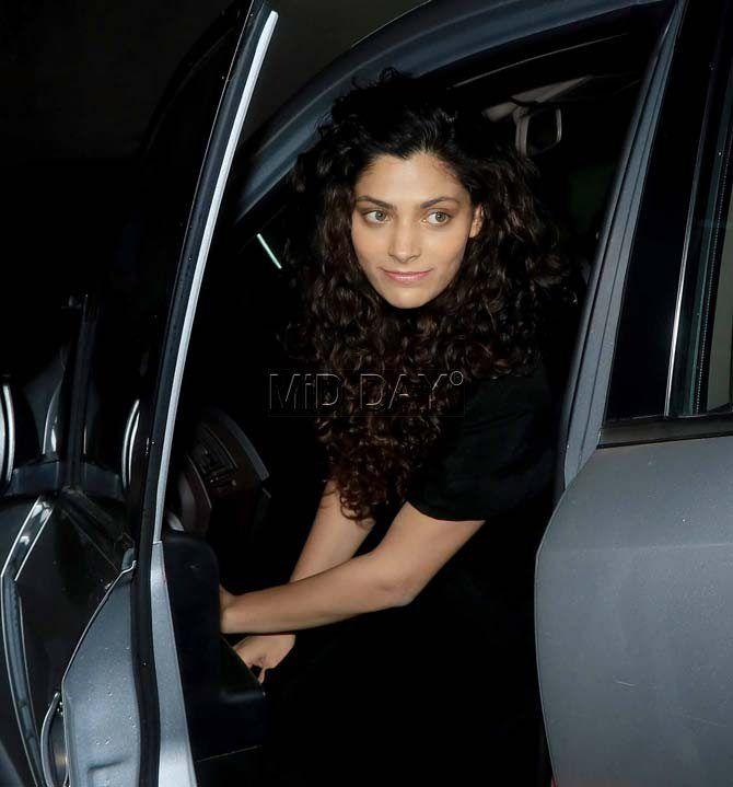 Saiyami Kher seen arriving for the Mirzya screening. #Bollywood #Fashion #Style #Beauty #Hot #Sexy