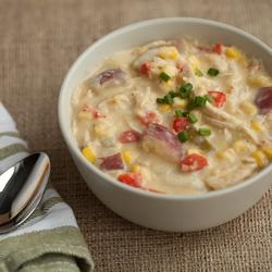 Roasted Chicken Corn Chowder