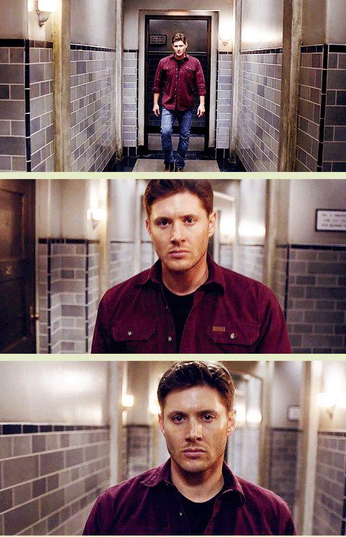 "[GIFSET] Demon Dean #Supernatural 10x03 Soul Survivor ""loved this scene""  & Deanmon looks so hot!! <3 #Dean #Deanmon"