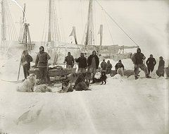 Fridtjof Nansen Featured Images - Nansen Prepares To Leave The Fram  by National Library of Norway