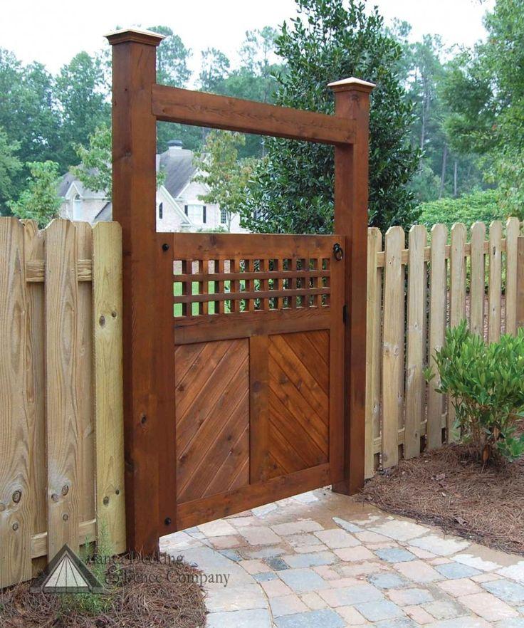 Garden Fence And Gate Ideas stylish decoration garden fences and gates agreeable collection garden fence gate ideas pictures Garden Gate Splendid Brown Wood Garden Gate Designs