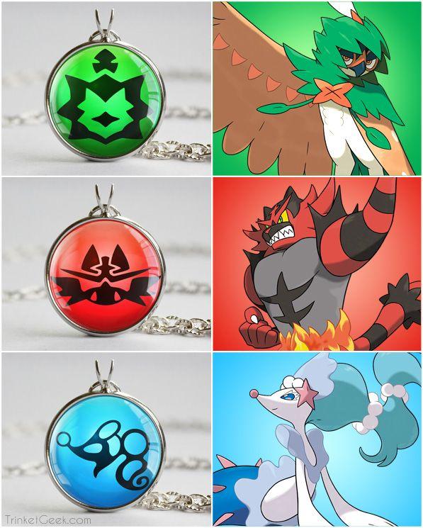 Pokemon Sun and Moon starter pokemon  decidueye-incineroar-primarina