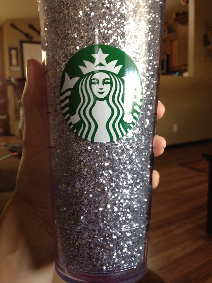 mod podge and glitter custom starbucks cup crafty