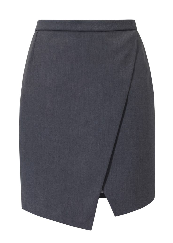 Kosmal, Lucky Me, resort 2016, asymmetrical skirt (grey). To download high or low resolution product images view Mondrianista.com (editorial use only).